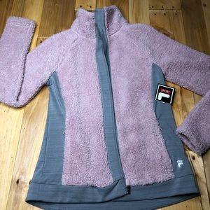 NWT FILA fuzzy cuddle jacket